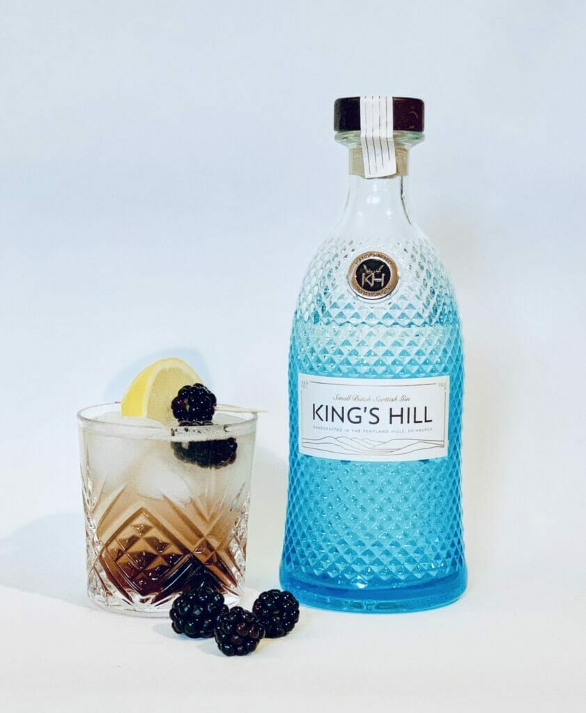 King's Hill Gin bramble fizz cocktail