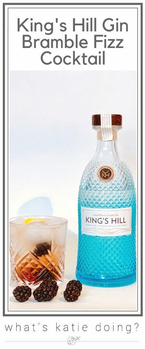 King's Hill Gin Bramble Fizz cocktail recipe