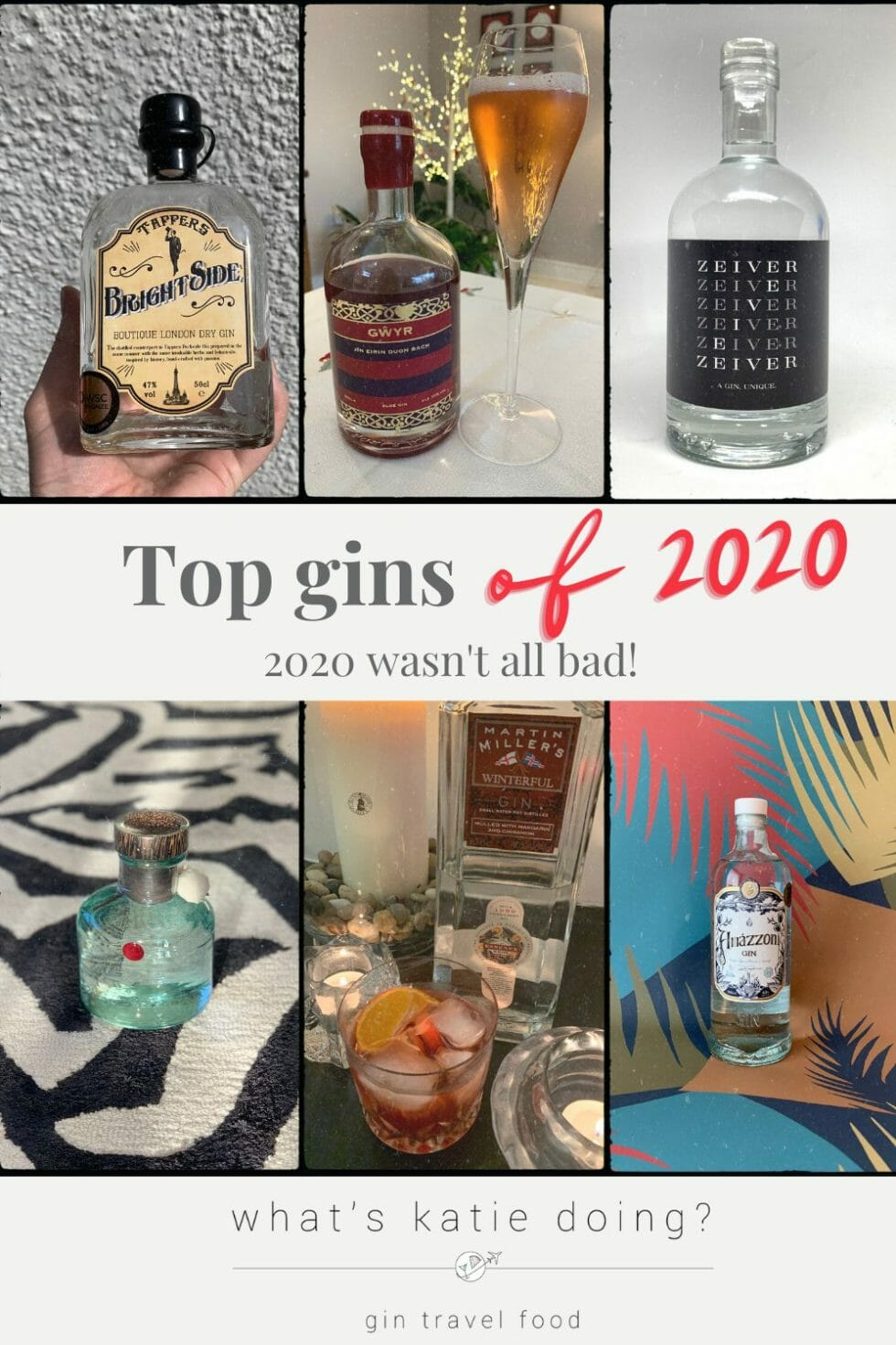 Top gins of 2020 - lots of new gins were launched despite the pandemic!