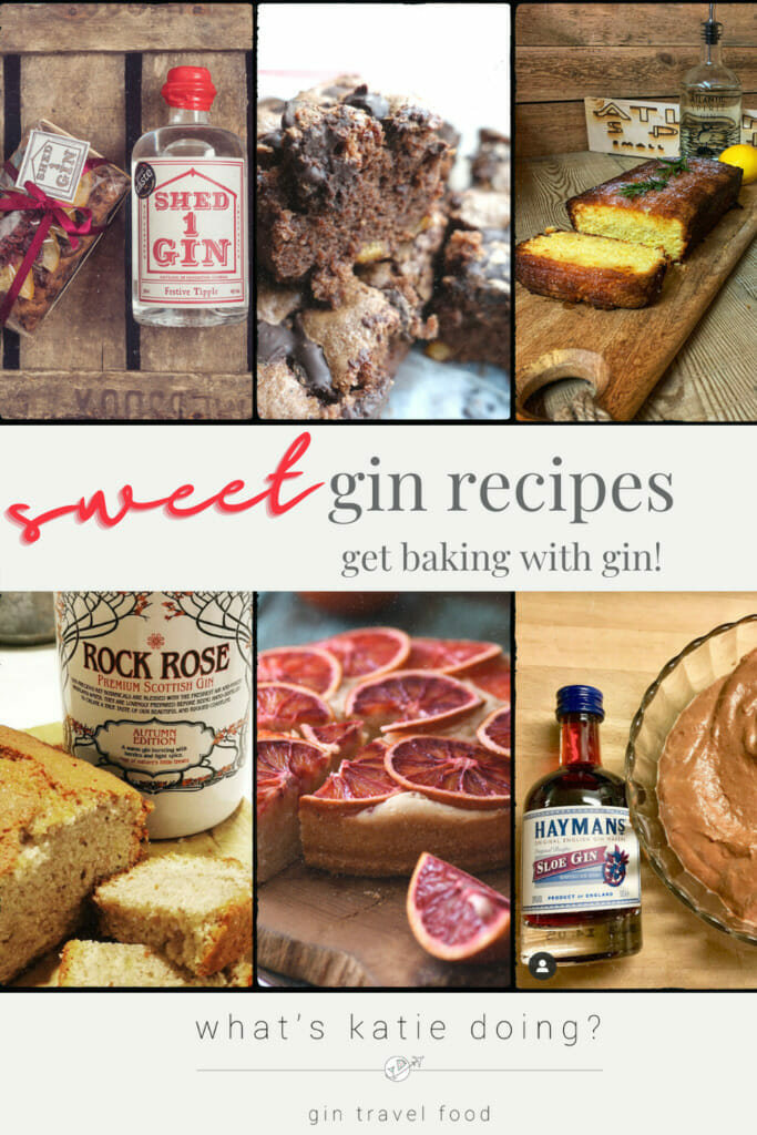 Cooking with gin - sweet edition, inspiration to get baking for lockdown 3!