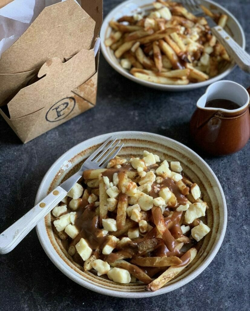 Poutine from The Poutinerie - chips topped with rich gravy and curds