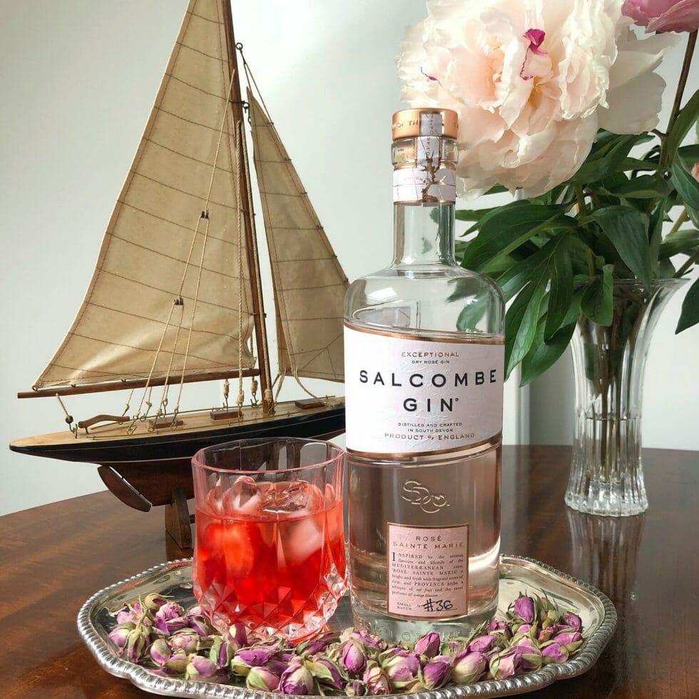 Salcombe gin Rose Negroni