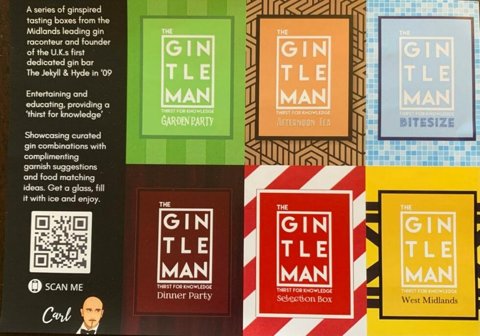 The Gintleman gin tasting boxes