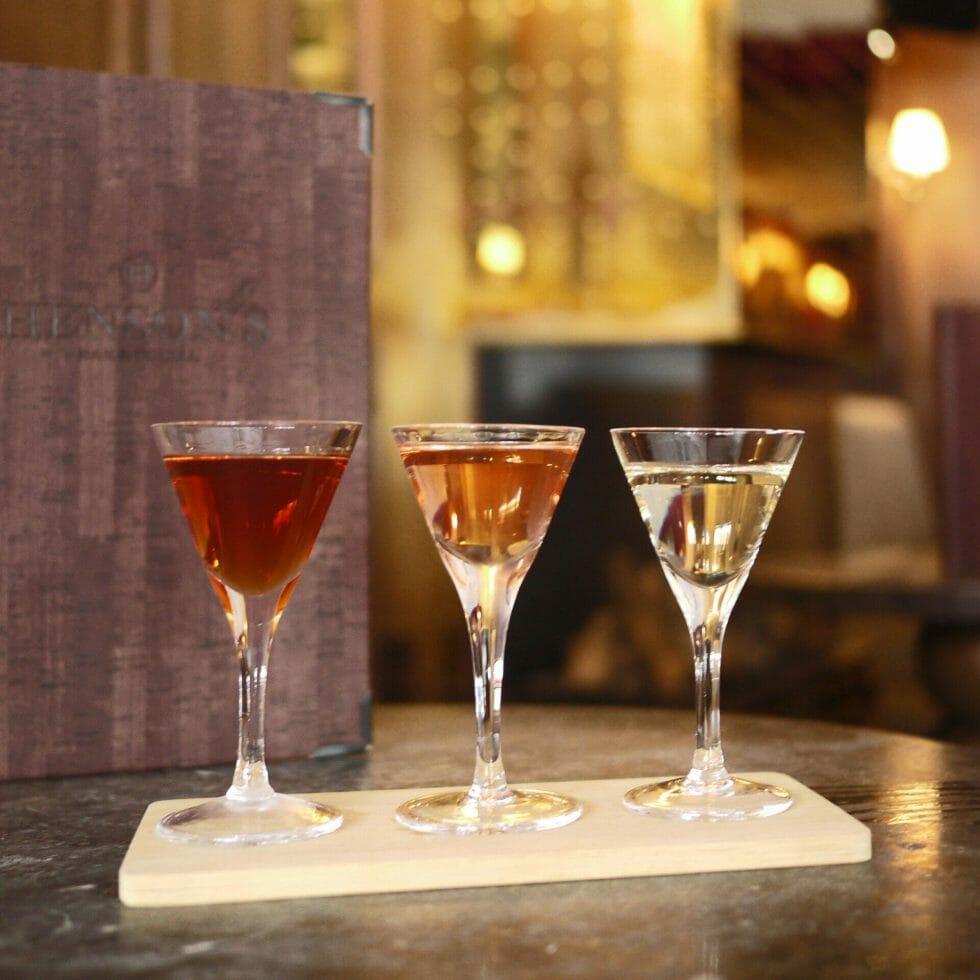 Hensons bar mini martini flight
